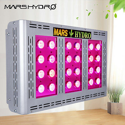 New! Mars Pro II Epistar 120 LED Grow Light Hydroponic Veg/Flower Full Spectrum