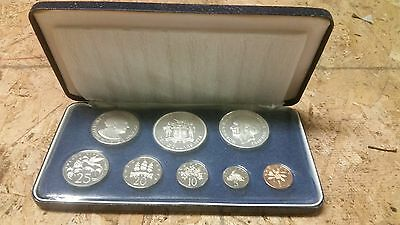 1975 Jamaica 8 Coin Proof Set in Original Seal, Box and Certificate #172