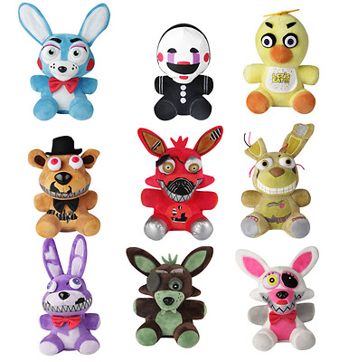 "NEW Five Nights at Freddy's Funko  FNAF Chica Bonnie Foxy Plush Doll Toy 7""/18CM"