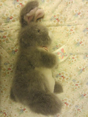 Weinstock's Exclusive GREAT O'HARE Gray BUNNY RABBIT Plush Hand Puppet Korea 16""
