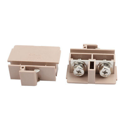 2pcs JF5-25 AC660V 100A 25mm2  2P PCB Terminal Block Connector Khaki