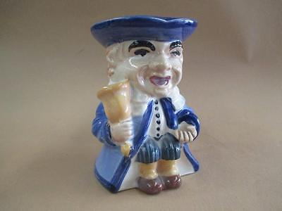Character jug, town crier, porcelain, makers stamp, antique, original