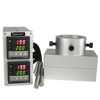 "FV ROSINTECH Rosin Press Dual Digital Temp Controller & 3""x5"" Plates Set 20T Kit"