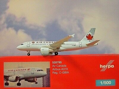 Herpa Wings 1:500 Airbus  A319 Air Canada  C-GBIA  528795