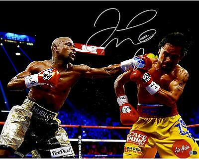 """Floyd Mayweather Autographed 16"""" x 20"""" vs. Manny Pacquiao Photograph"""