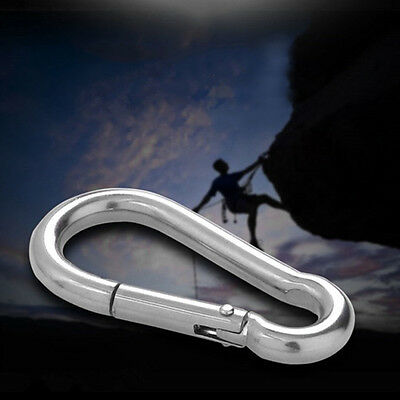 5pcs 304 Stainless Steel Spring Snap Quick Link Lock Ring Carabiner M4 40mm