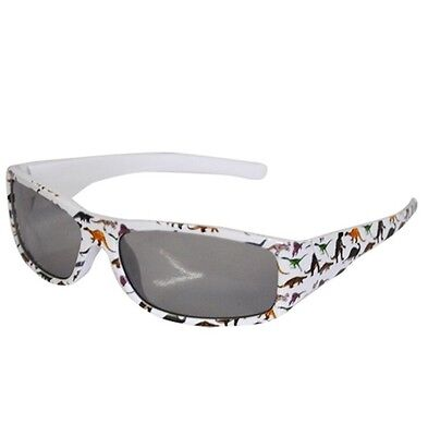 Dinosaur Kids White Boys Girls Sunglasses 100% UV block - NEW