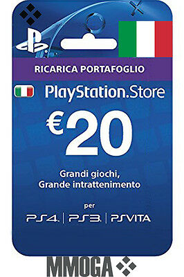20€ EUR PSN Live Card f. Italien 20 Euro PlayStation Network Key Gutschein [IT]