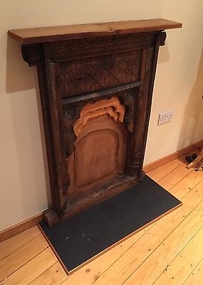 Indian Hardwood Decorative Fireplace And Hearth