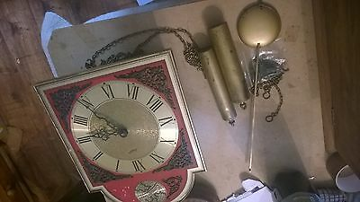 Tempus Fugit Grandfather Clock With 2 Weights