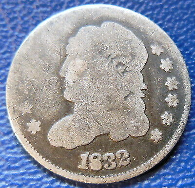 1832 Capped Bust Half Dime Good G US Type Coin T1634