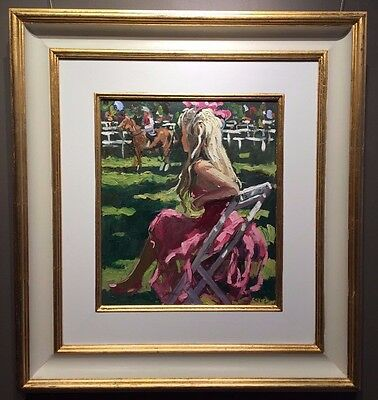 In The Paddocks by Sherree Valentine Daines, Original Painting, Impressionist