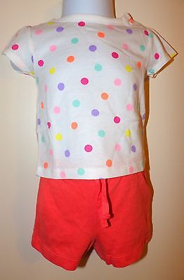 NEW Baby GAP Coral Orange Cotton Shorts Girls Size 3-6 Months  W/ Special offer