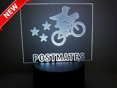 Postmates 16 color 7 mode Acrylic engraving beautiful decoration USB and Battery