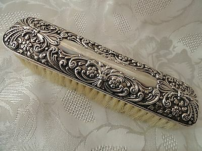 Antique Silver Backed Clothes Brush Hallmarked Birmingham 1909
