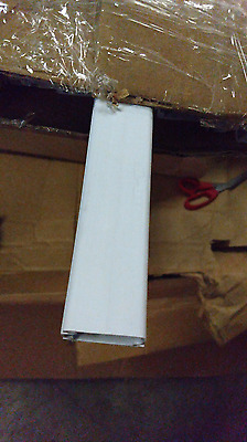 "White computer Wire duct 1"" x 1"" plastic self adhesive 8' long 19 pieces"
