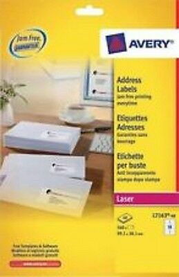 Avery L7163-100 Laser Address Labels - 100 Sheets - 14 per Sheet = 1400 labels