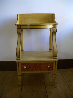 Decorated Maine Washstand ~ Federal Period ~ Original Yellow Paint ~ Circa 1820