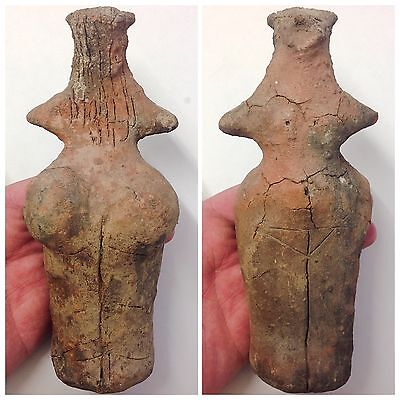 Ultra rare ancient Neolithic anthromorphic Vinca figurine, 4500BC (LARGE SIZE)