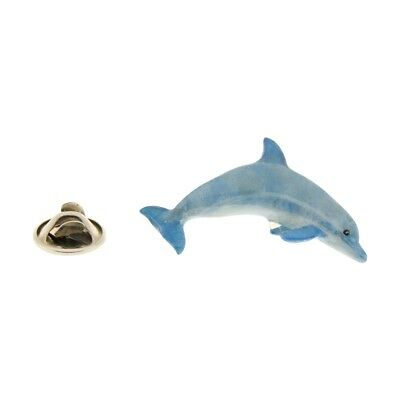 Dolphin Pin ~ Hand Painted ~ Lapel Pin