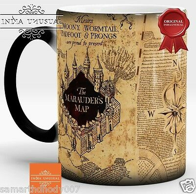 Harry Potter mug Marauders Magic Coffee mug Heat Sensitive Color Changing 350ml
