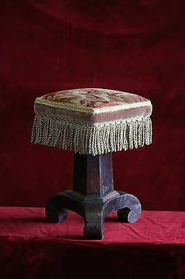 Grained Wood Antique Organ / piano stool S-30G