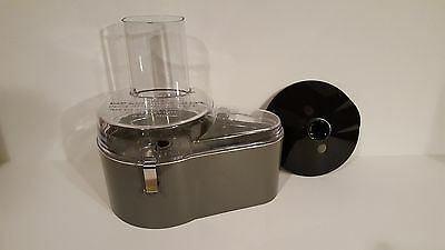 Waring Commercial Food Processor Continuous Feed Cover AND Disc AND Gray Bowl