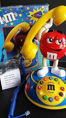 M&M'S Red LandLine Phone Activated Telephone Talking Animated Vintage W/ Box NIB
