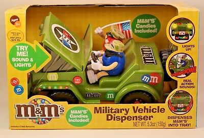 M&M Candy Military Vehicle  Dispenser New in Box © 2009
