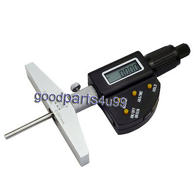 New Digital Electronic Depth Micrometer 0-150mm Base Machinist Mic Gauge