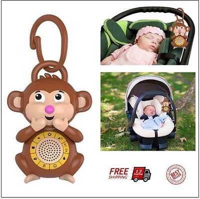 Baby Therapy Sleep Sound Machine Noise Melodies Soothing Monkey Nursery Lullaby