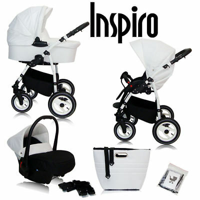 Baby 3in1 Car Seat Pram Buggy Pushchair Stroller Ecco Linen Umbrella