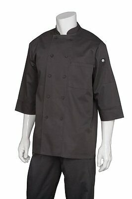 Chef Works Mens Essential 3/4 Sleeve Chef Coat JLCL