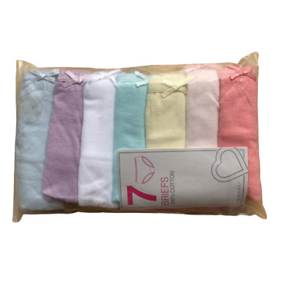 7 x Pairs Girls Pets Penguins Dogs Llama Underwear Knickers Briefs Age 2 - 8