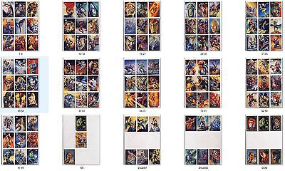 1996 Fleer Skybox Marvel Masterpieces Julie Bell Boris Vallejo Singles: YOU PICK