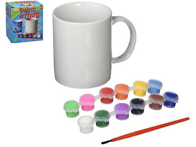 Design Paint Your Own Mug Creative Art Paint Fun Gift Kids Childrens Educational