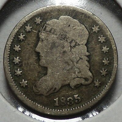 1835 Small Date Small 5 Capped Bust Half Dime Good