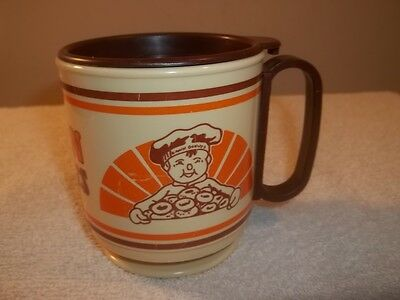 Vtg DAWN DONUTS ADVERTISING PLASTIC TRAVEL WHIRLEY COFFEE CUP