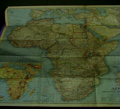 National Geographic Wall Map of Africa dated 1946     (LOC=lKR 6 DOCS)