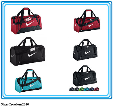 d9e985044eeb Like us on Facebook · Nike BRASILIA DUFFEL Gym Travel BAGS XS - L Red or  Teal Black White Swoosh