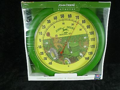 "John Deere Outdoor Thermometer. 11 1/2"". New"