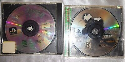2) Playstation 1 Games Medal Of Honor & The Chessmaster 3-D
