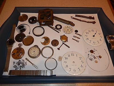Vintage Clock, Pocket Watch & Watch Parts - See Pictures Collectable & Desirable
