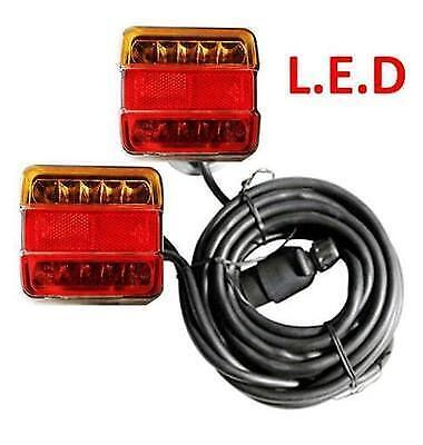 Led Trailer Lights Magnetic Base Rear Lamp 7.5M & 2.5M Cable Rear Board Towing