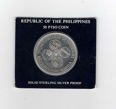 Philippines 50 Piso Silver Proof  1976 Board of Govenors Meeting    LOT # 25