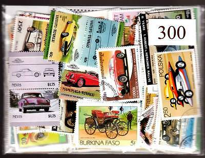 300 AUTOMOBILES big lot all different with many great topical sets & large size