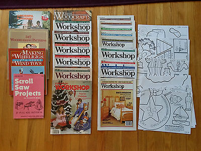 Woodworking Magazines and Book Lot with patterns