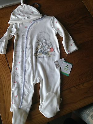 BMWT Mothercare Sleepsuit And Hat Set Winnie The Pooh 3-6 Months