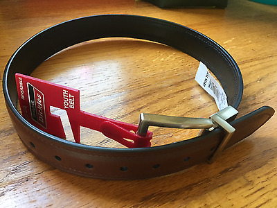 NEW! Dickies Youth/Boys Leather Belt - Size 22-24 - Black/Brown Reversible