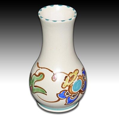 Honiton Devon Studio Pottery Vase Hand Painted Floral Design